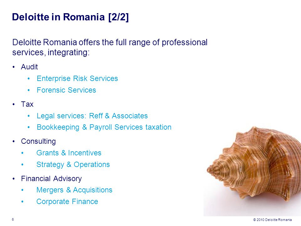 Deloitte in Romania [2/2]